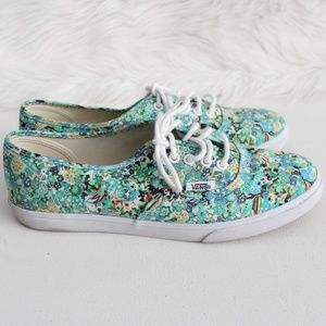 Vans Lo Pro Ditsy Floral Green Blue Sneakers